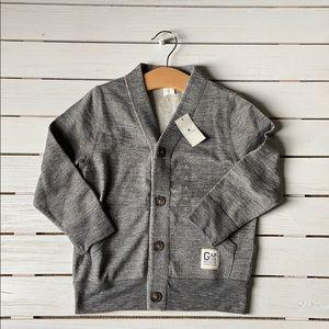 NWT BabyGap Grey Sweater Cardigan Size 4T